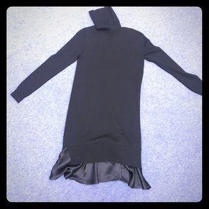 Polo soft sweater turtleneck black dress